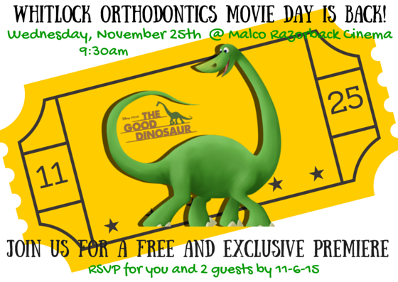 Whitlock Ortho Patient Appreciation Movie Day '15 #WhitlockOrtho #RockYourSmile